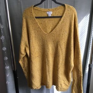 🍁 COMFY yellow speckled sweater 🍁